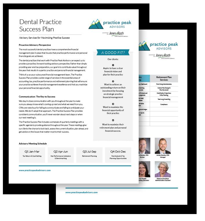 Practice Peak Advisors Dental Success Flyer